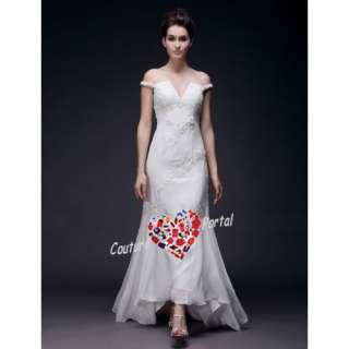 Mermaid Off shoulder Sweep Train Chiffon Wedding Dress