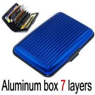 New ID Card Credit Card Wallet Holder Aluminum Case Box RF ID