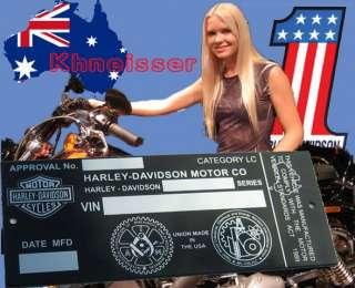 AUSTRALIAN Harley Davidson EVO FX FL FXSTS XL Chopper Custom Bobber