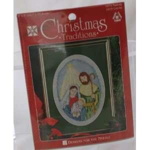 Joseph Jesus COUNTED CROSS STITCH Kit Nativity Creche: Everything Else