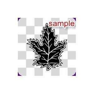 NATURE AND INSECTS FALL SEASON LEAF 12 WHITE VINYL DECAL