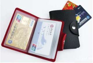 Woman PU Leather Business Credit ID Card Holder Purse Wallet Pocket