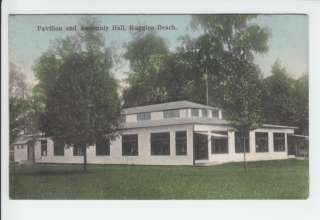 Ruggles Beach Pavilion Huron Ohio OH Old Postcard Erie County Vintage