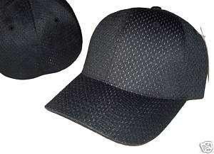 BLACK FLEX ULTRA FIT MESH BASEBALL CAP HAT CAPS SZ L/XL