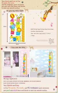 SWST 29 Height Measure ZOO Kids Wall Decor Deco Sticker