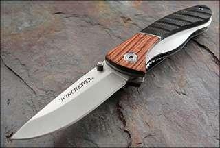 Grooved Dark Brown & Light Brown Wood Handles Knife NEW