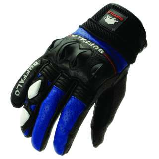 SHORT LEATHER SPORTS SUMMER VENTED MOTORBIKE MOTORCYCLE GLOVES