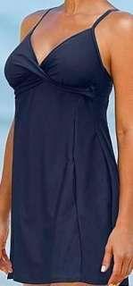 Athleta Twistini One Piece Bra Cup Swim Dress 38D 36DD