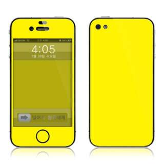 Apple iPhone4 Full body Skin Decal Cover Sticker Yellow