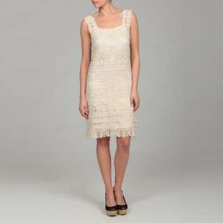 Gossip Girl Womens Beige Lace Dress