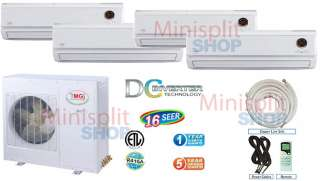Ductless Mini Split 4 x 12000 Air Conditioner A/C Heat Pump Inverter
