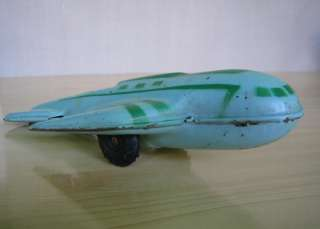 1950s ANTIQUE TIN TOY MECHANICAL AIRPLANE