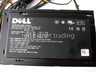 DELL XPS 630 750W Power Supply PSU DW209 DW002 D750E 00