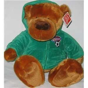 Gund All Stars Soccer Bear   Dressed in Green Hoodie Toys