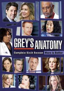 Grey`s Anatomy The Complete Sixth Season (DVD)