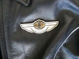 Harley Davidson Leather Jacket 100th Anniversary Womens Size Small