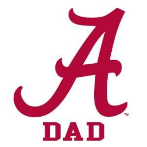 ALABAMA CRIMSON TIDE DAD clear vinyl decal car truck