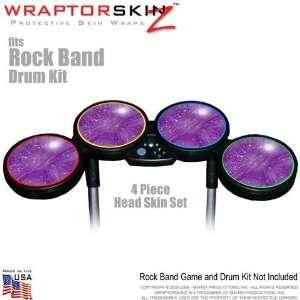 Stardust Purple Skin by WraptorSkinz fits Rock Band Drum