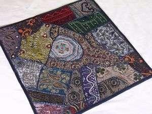 Multicolor Large Lounge Floor Handmade Sari Pillow Case