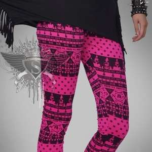 Gothic Lovely Lolita Skull Lady Tights Pants Leggings Fashion Charming