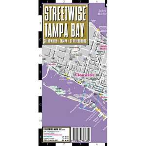 Streetwise Tampa Bay Map   Laminated City Street Map of