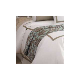 Chelsea Frank Group Elise Bedscarf in Blue and Brown Floral Bedding