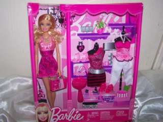 Barbie Fashion Fever Doll And Fashions Barbie Gift Set New