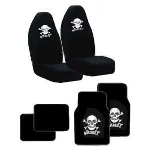 Fit High Back Front Bucket Seat Cover With Embroider Logo   White