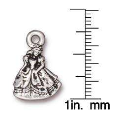 Silverplated Pewter Cinderella Princess Charms (Set of 2)