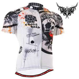 mens skeleton cycling jersey top bike bicycle S~3XL