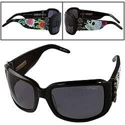 Ed Hardy Womens Skull and Roses Sunglasses