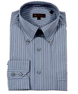 Ben Sherman Mens Long sleeve Blue Dress Shirt  Overstock