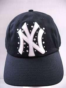 SECRET PINK BASEBALL NEW YORK MLB YANKEES BLING NY HAT CAP ONE SIZE