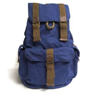 NEW Canvas Leather Travelling Outdoor Backpacks School Book bags