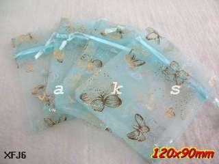 Butterfly Organza Wedding Favor Gift Bags Pouch 12x9cm/3.5x5 XFJ 12