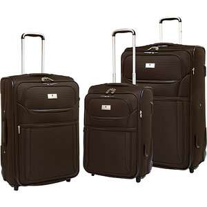 Travelers Club 3 Piece Rolling Upright Expandable Luggage