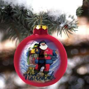 Washington Nationals Art Glass Ornament MLB Baseball Fan Shop Sports