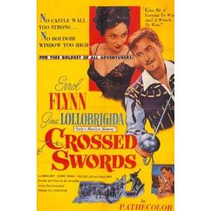 Crossed Swords Poster B 27x40 Errol Flynn Gina Lollobrigida Cesare