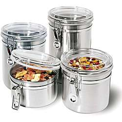 Stainless Steel 4 piece Airtight Canister Set