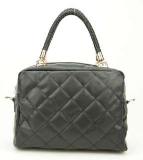 Women Genuine Leather Boston Tote Bag Designer Shoulder Handbag