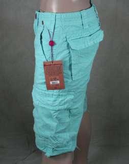 Religion Jeans Mens ISAAC Blue Cargo Tonal SHORTS Marina MAR841K33