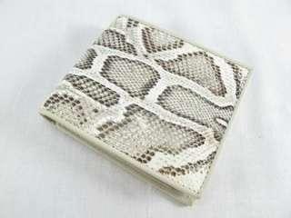 Genuine PYTHON Snake Skin Leather Mens Bifolds Wallet