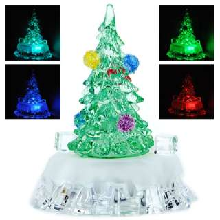 Colorful Christmas Xmas Tree LED Light Desktop Decoration Lamp