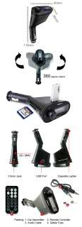 NEW Car Kit  PLAYER with Audio FM Transmitter Remote