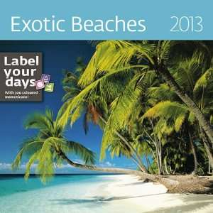 Exotic Beaches 2013 Wall Calendar: Office Products