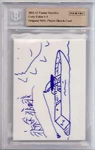 2011 12 Panini Original NHL Player Sketch Card 1/1 Cody Eakin Auto