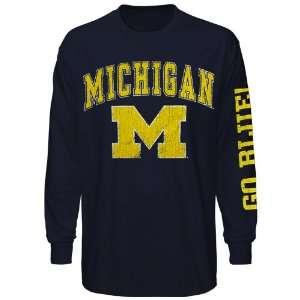 Michigan Wolverines Big Arch & Logo Long Sleeve T Shirt