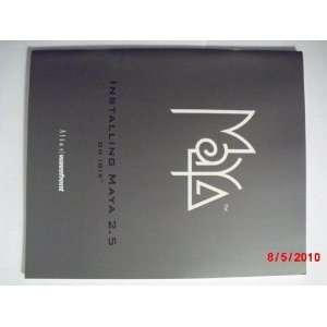 Maya 2.5: Installing Maya 2.5 on IRIX Manual: Alias