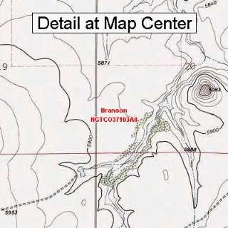 USGS Topographic Quadrangle Map   Branson, Colorado