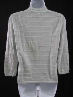 OSCAR DE LA RENTA Green Cashmere Cardigan Sweater Sz M